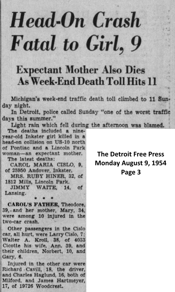 Car Accident Newspaper Articles